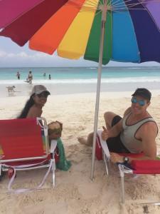 playa del carmen umbrella rental